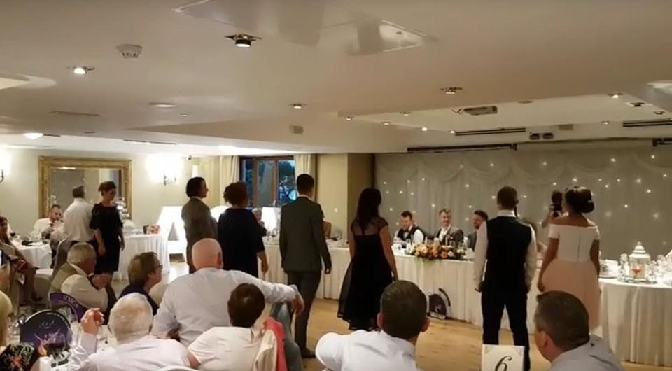 Watch This Flash Mob To Dont Stop Believin At A Mullingar Wedding