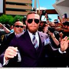 22 August 2017; Conor McGregor during the Grand Arrival at Toshiba Plaza in Las Vegas, USA, ahead of his boxing match with Floyd Mayweather Jr at T-Mobile Arena in Las Vegas on Saturday August 26. Photo by Stephen McCarthy/Sportsfile