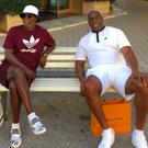 Samuel L Jackson and Magic Johnson in Tuscany. PIC: Magic Johnson/Twitter
