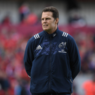 19 May 2017; Munster director of rugby Rassie Erasmus before the Guinness PRO12 Semi-Final match between Leinster and Scarlets at the RDS Arena in Dublin. Photo by Brendan Moran/Sportsfile