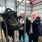 Ministers Heather Humphries and Michael Ring at the Virginia Show, Co Cavan yesterday Photo: Barry Cronin