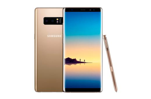 The new Galaxy Note 8 smartphone. Photo: Samsung/PA