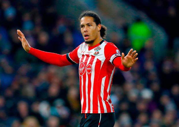 Southampton defender Virgil van Dijk. Photo credit: Martin Rickett/PA Wire.