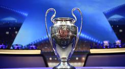 MONTE CARLO, MONACO - AUGUST 24: UEFA Champions League trophy is seen during the UEFA Champions League 2017-18 Group stage draw ceremony, at the Grimaldi Forum, Monte Carlo in Monaco, on August 24, 2017. (Photo by Mustafa Yalcin/Anadolu Agency/Getty Images)