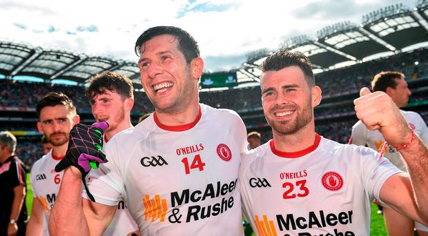 The combination of experience from the likes of Sean Cavanagh and strength from the bench from people such as Darren McCurry gives Tyrone a huge chance of upsetting Dublin. Photo by Ramsey Cardy/Sportsfile