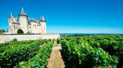 Saumur castle and Loire River, Loire Valley, France