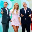 Ryan Tubridy, Vogue Williams, Baz Ashmawy, Mairead Ronan, Amy Huberman and Ray Darcy at the RTÉ launch. Photo: Colin Keegan