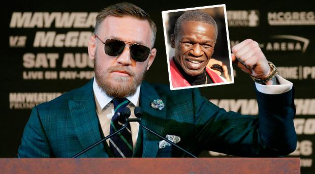 Conor McGregor and (inset) Floyd Mayweather Senior