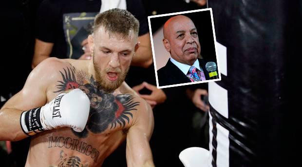 Conor McGregor and (inset) boxing referee Joe Cortez