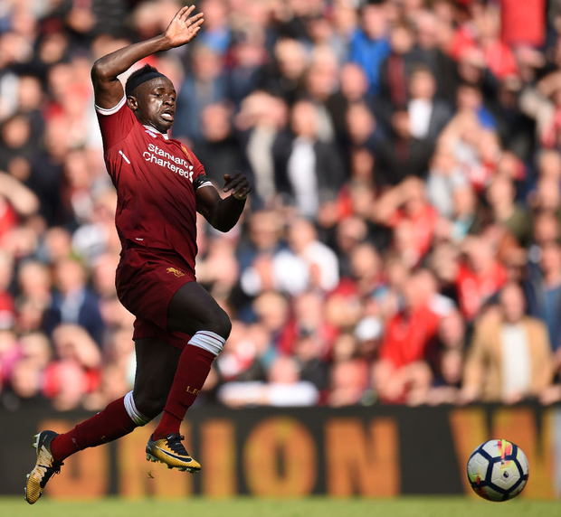 Sadio Mané is more important to this Liverpool team than Philippe Coutinho – he offers strength, goals, aggression, skill and he can defend a little more. Photo: Getty