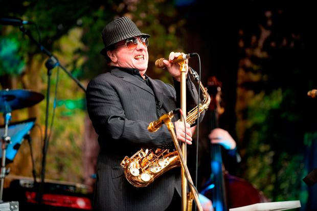 Van Morrison playing at his 70th birthday concert in 2015. Photo: PA