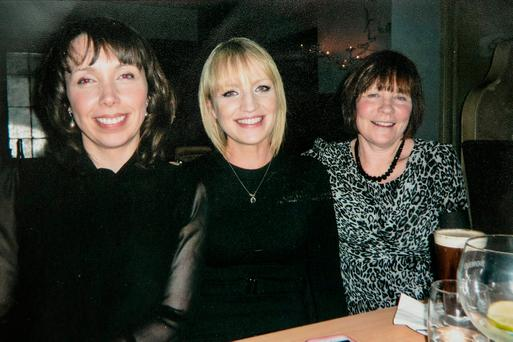 Clodagh Hawe with her sister Jacqueline Connolly and mother Mary Coll
