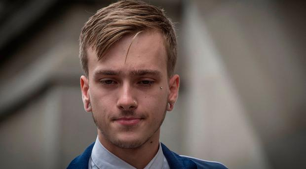 Charlie Alliston, 20, arrives at the Old Bailey in London: Lauren Hurley/PA Wire