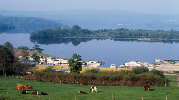 Part of the lower Lough Erne at Killadeas, Co Fermanagh