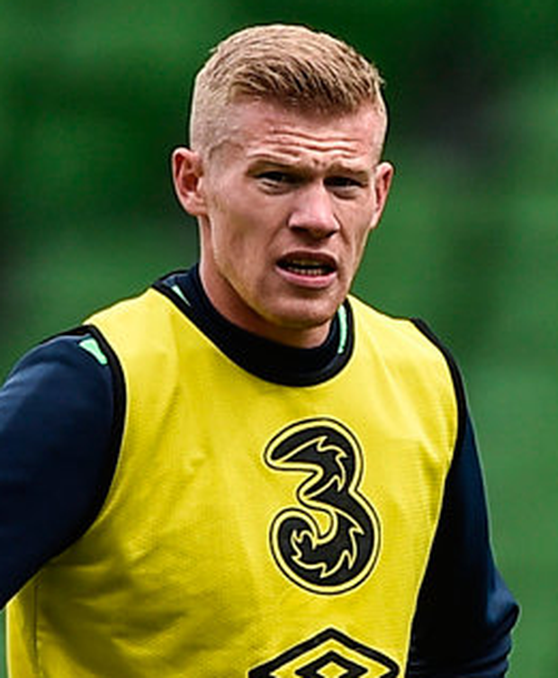 James McClean (pictured) and Harry Arter are expected to add to their caps against Georgia Photo: David Maher/Sportsfile