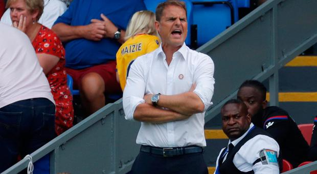 Crystal Palace manager Frank De Boer Photo: Reuters/Andrew Couldridge