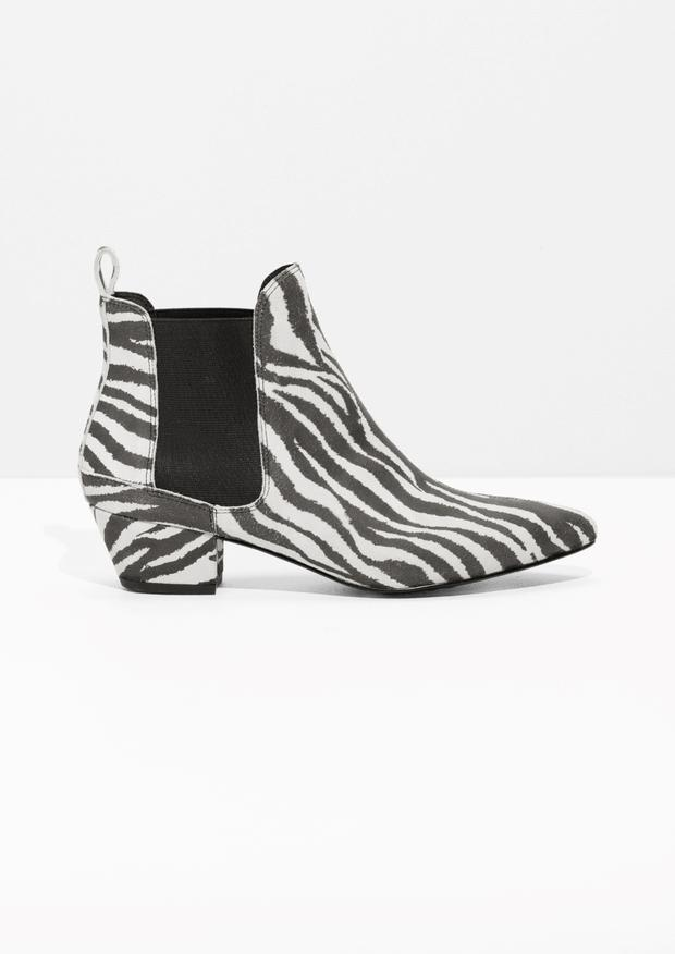 Zebra print boots from & Other Stories