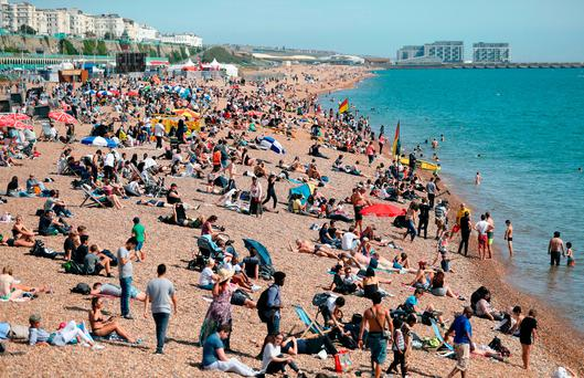 150 taken ill after mystery haze hits Sussex beaches