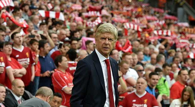 Arsene Wenger manager of Arsenal during the Premier League match between Liverpool and Arsenal at Anfield on August 27, 2017 in Liverpool, England. (Photo by Andrew Powell/Liverpool FC via Getty Images)
