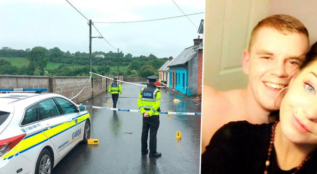 Scene of the attack in Castlecomer and inset Jamie Hennessy with Jessie Connell