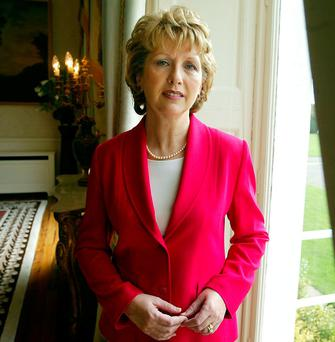 Mary McAleese fears ID will be required at the Border. Photo: Mark Condren