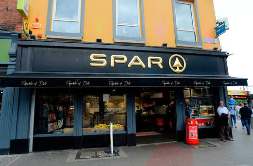 General view of the Spar shop on the corner of Talbot street and Amiens Street, Dublin, where the winning Lotto ticket for Saturday night's jackpot Picture: Caroline Quinn