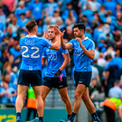 Dublin players Paul Flynn, Jonny Cooper and Cian O'Sullivan celebrate