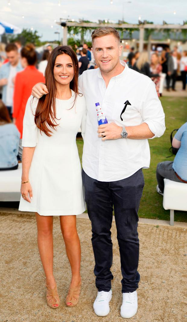 Sheena O'Buachalla and Jamie Heaslip at the launch of Kronenbourg BLANC. Picture: Kieran Harnett
