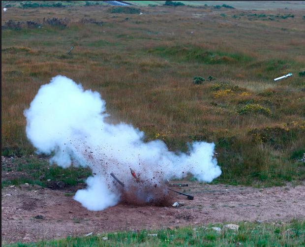 The Army Bomb Disposal Team carried out a controlled explosion