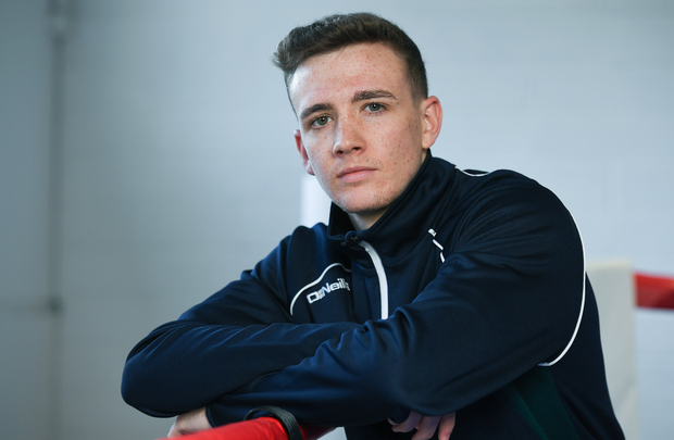 Brendan Irvine of Ireland during an IABA Boxing open training session at the Institute of Sport in Abbotstown, Dublin. Photo by Eóin Noonan/Sportsfile