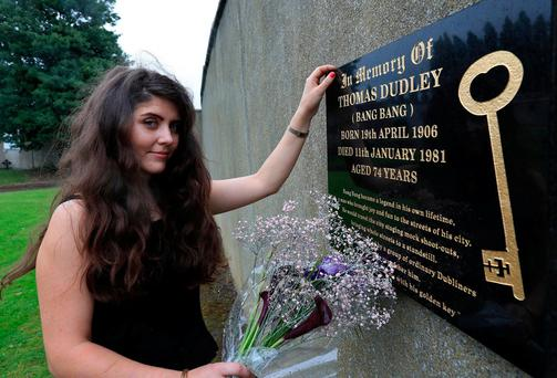 Grace Lambert, from Dublin, helped raise funds to erect the memorial to Bang Bang at the St Joseph's in Drumcondra, Dublin. Photo: Colin Keegan