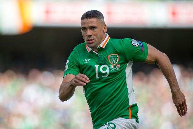 Jonathan Walters of Ireland pictured in action during the FIFA World Cup 2018 Qualifying Round Group D match between Republic of Ireland and Austria at Aviva Stadium in Dublin, Ireland on June11, 2017 (Photo by Andrew Surma/NurPhoto via Getty Images)