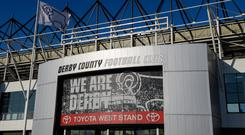 A general view of Pride Park, home of Derby County prior to the Sky Bet Championship match between Derby County and Preston North End at Pride Park Stadium on August 15, 2017 in Derby, England. (Photo by Chris Vaughan - CameraSport via Getty Images)