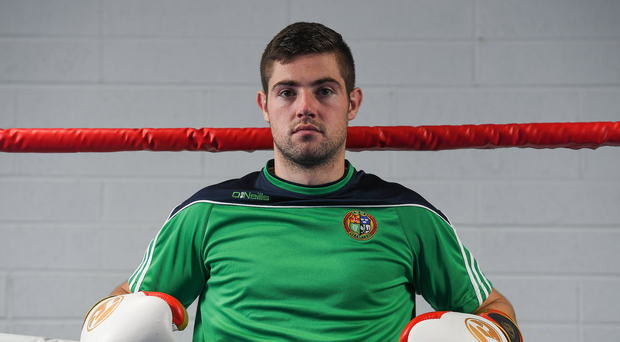 Joe Ward of Ireland during an IABA Boxing open training session at the Institute of Sport in Abbotstown, Dublin. Photo by Eóin Noonan/Sportsfile