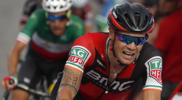 Nicolas Roche throws caution to the wind