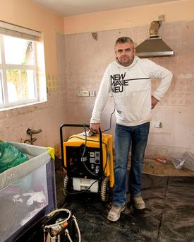 Liam Hegarty's Burnfoot home was damaged in the floods. Photo: North West Newspix