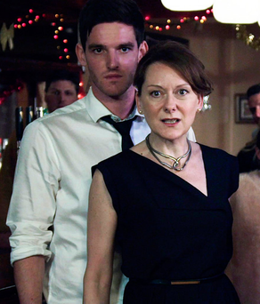 Patricia Hennessy (played by Cathy Belton) and David Hennessy (played by Adam Weafer) in a scene from TV3 soap 'Red Rock'