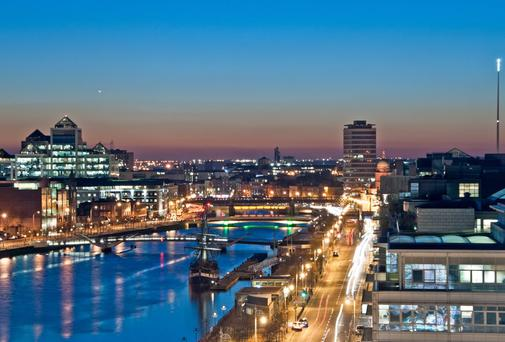 The study shows that average room rates in Dublin jumped by €16.44, or 14.7pc, to €128.27 a night during 2016 Photo: iStock