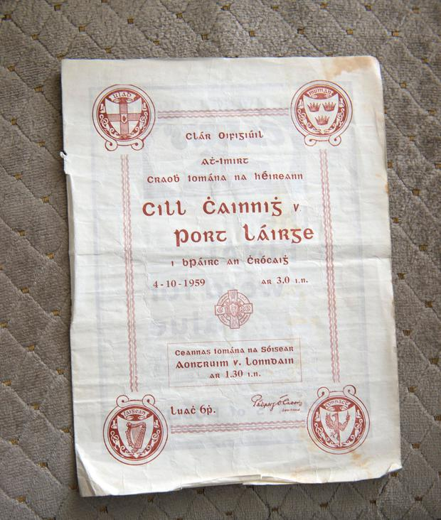 A programme from the 1959 final