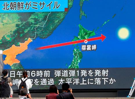 US, Japan, South Korea make show of force after Pyongyang missile test