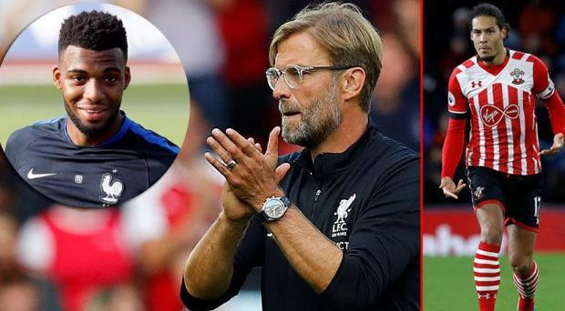 Jurgen Klopp wants to sign Thomas Lemar (inset) and Virgil van Dijk (right)