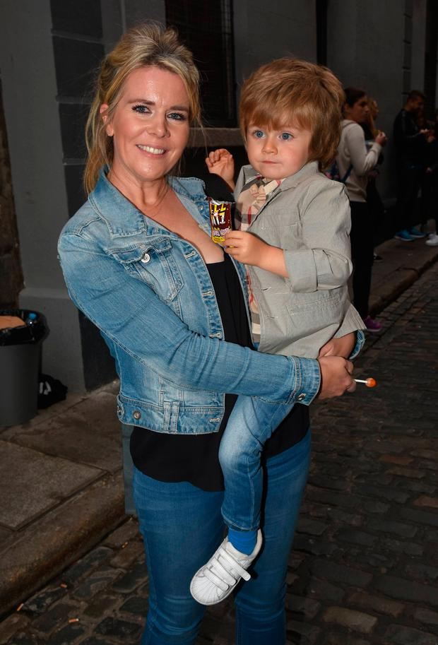 Denise Horan and Theo Horan at the Niall Horan Flicker Sessions 2017 world tour concert at The Olympia Theatre, Dublin