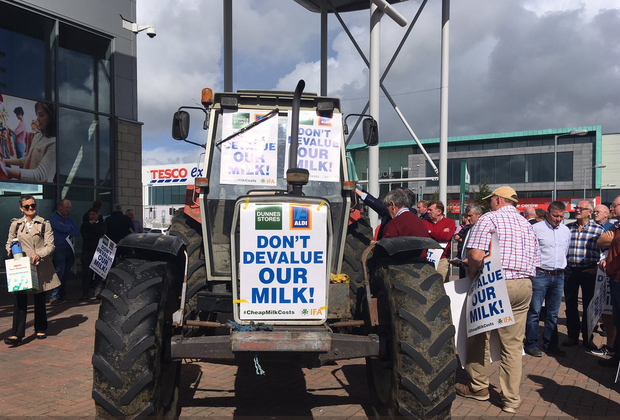 The IFA is protesting in Portlaoise today over a 'milk price war'. Picture: IFA