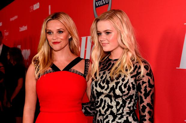Reese Witherspoon (L) and Ava Phillippe attend the premiere of Open Road Films'