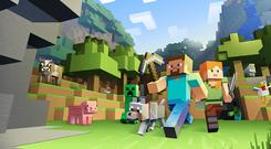 Minecraft is a game with a PEGI rating of 7+