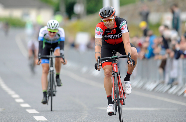 Nicolas Roche of BMC Racing, at the finish of the Elite Men Road Race at the National Cycling Road Race Championships in Wexford. Photo by Stephen McMahon/Sportsfile