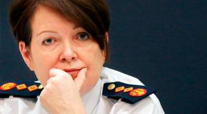 Retiring Garda Commissioner Nóirín O'Sullivan. Photo: Gerry Mooney
