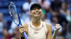 Maria Sharapova of Russia celebrates after defeating Timea Babos of Hungary in their second round Women's Singles match on Day Three of the 2017 US Open at the USTA Billie Jean King National Tennis Center on August 30, 2017 in the Flushing neighborhood of the Queens borough of New York City. (Photo by Al Bello/Getty Images)