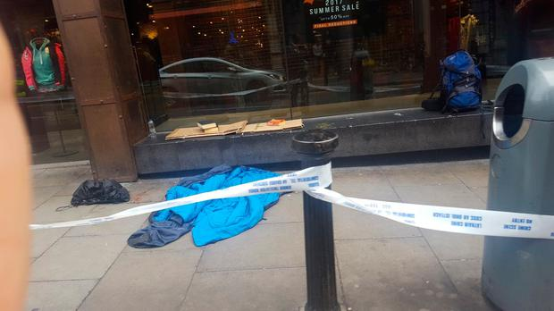 Homeless man in his 50s found dead near Grafton Street this morning