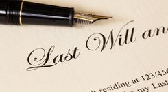 The deceased man left a will. Stock Image
